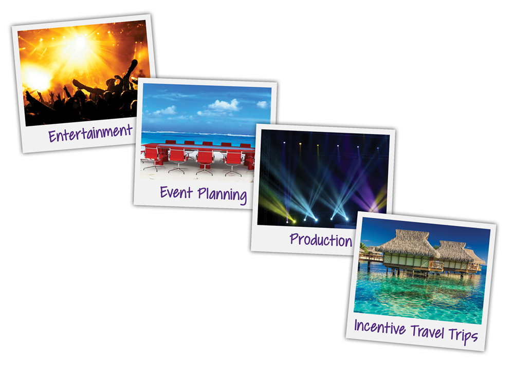 Wendo Entertainment & Events - event entertainment and planning -collage of Polaroid photos of Corporate Events, Special Events, Weddings, and Productions