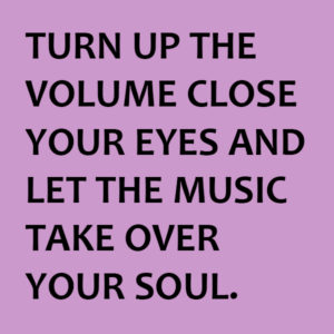 Turn up the volume close your eyes and let the music take your soul.