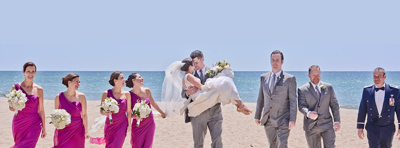 wedding party on the beach - wedding planning & entertainment - wendoevents.com